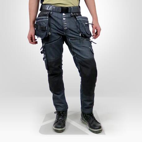 1ac649b960 Jean de travail stretch Blaklader X1900 Denim - Kraft Workwear