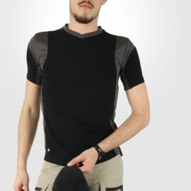 T shirt travail homme Cofra Java anthracite noir