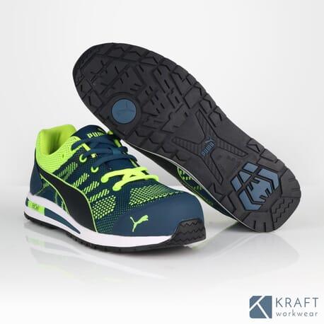 a5fc023be135 Chaussure de sécurité Puma S1P Elevate Knit Green - Kraft Workwear
