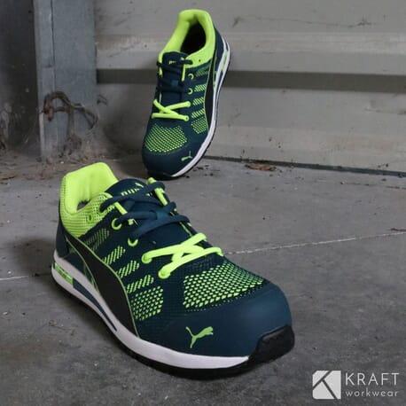 3acf52cd72f78 Chaussure de sécurité Puma S1P Elevate Knit Green - Kraft Workwear