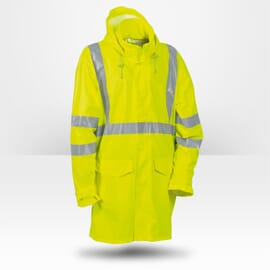 Veste de pluie haute visibilité jaune Cofra