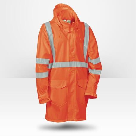 Veste de pluie haute visibilité orange Cofra