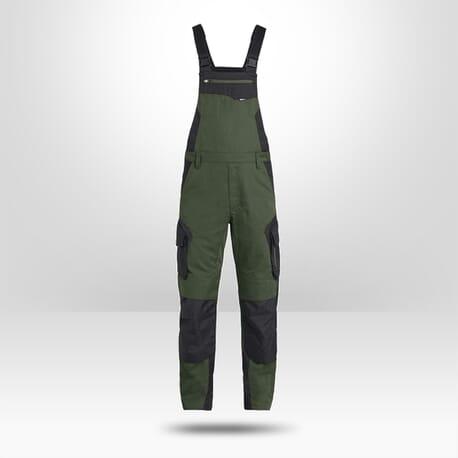 Salopette de paysagiste FHB Pascal vert noir