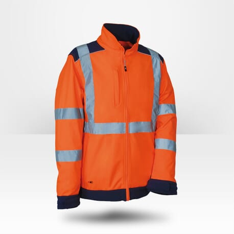 Veste haute visibilité softshell Cofra orange fluo