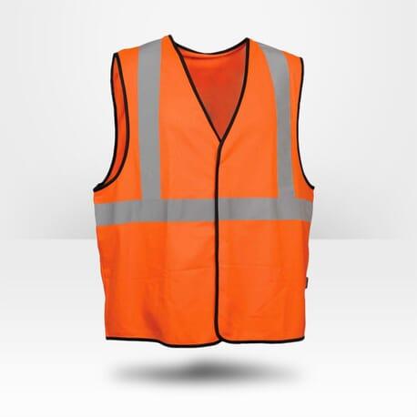 Gilet orange Cofra haute visibilité