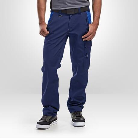 Pantalon industrie pur coton Blaklader marine bleu
