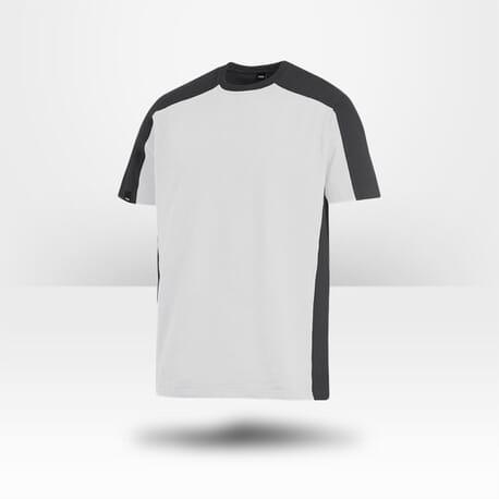 T-shirt bicolore 100% coton Marc blanc