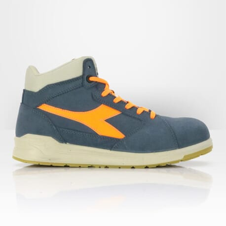 Diadora chaussure de sécurité D-Jump haute bleu denim orange