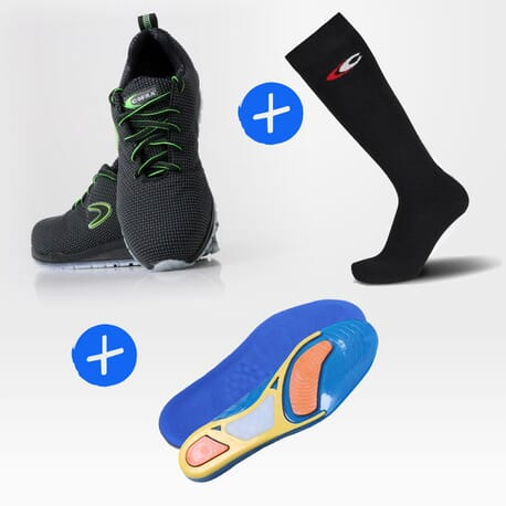 Pack Monti + semelles + 2 paires de chaussettes à moitié prix !